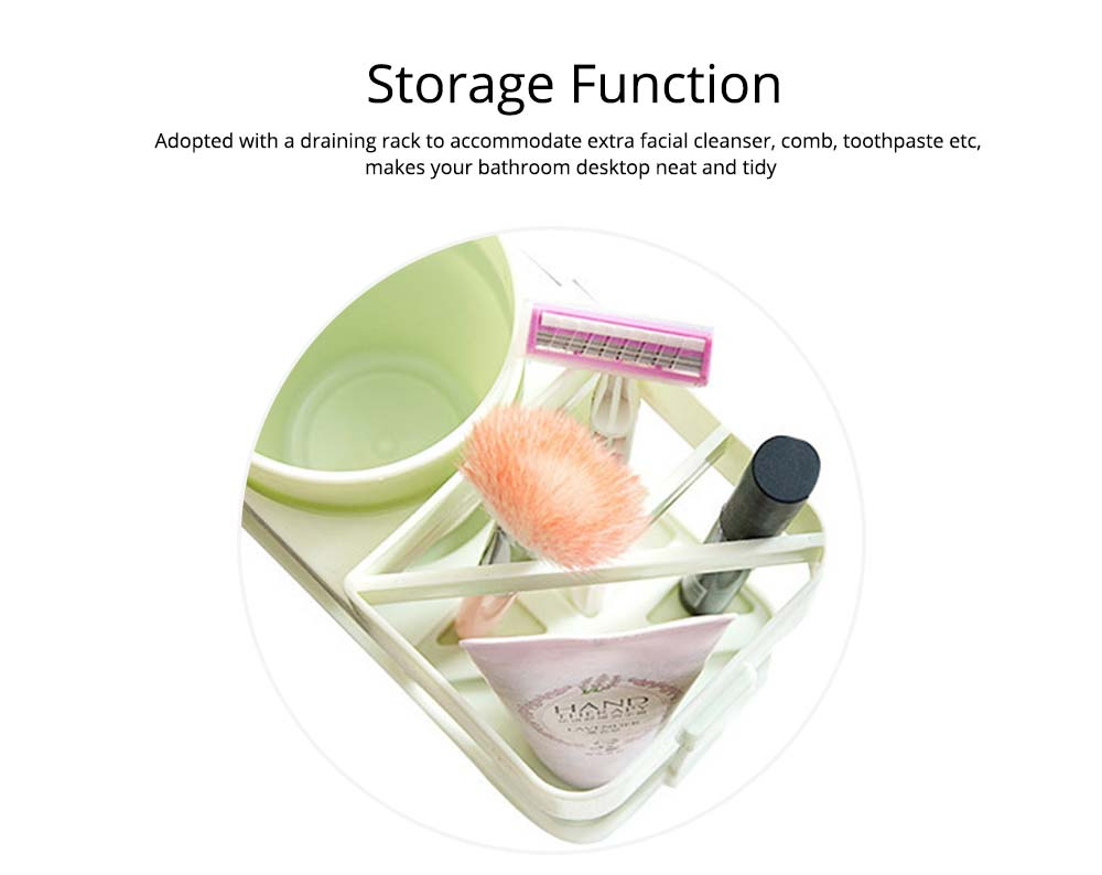 Bathroom Cup Set with Draining Rack, Durable Toothbrush Cup Holder for Bathroom Hotel Traveling Business Trip 4