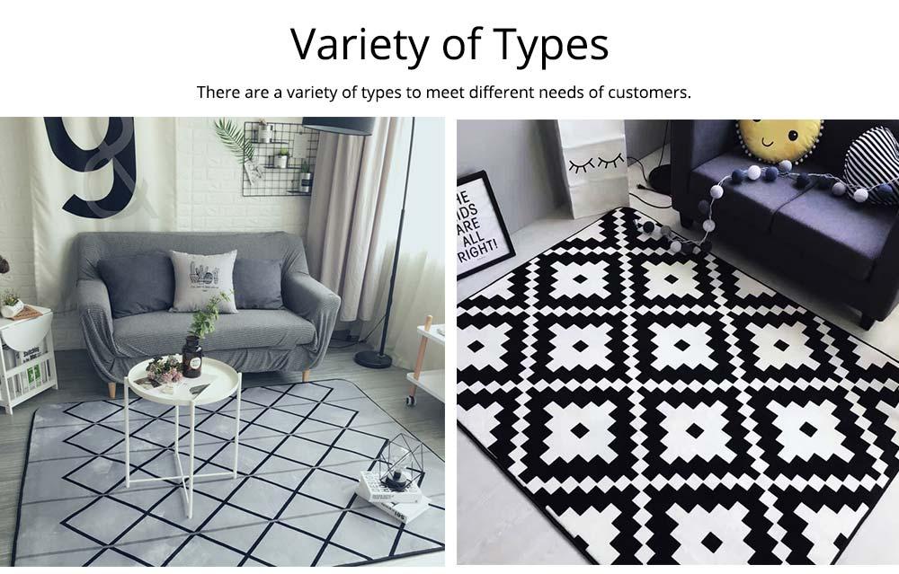 Flannel Rugs Modern Design Floor Mat, Non-slip Shaggy Fluffy Rugs for Living Room, Bedroom 7