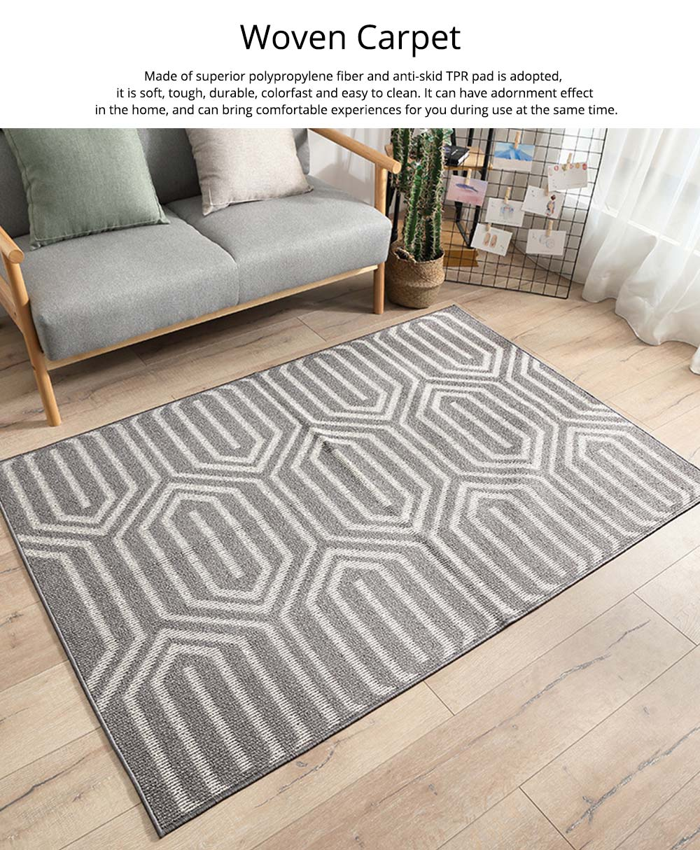 Double Layer Woven Carpet, Modern Style Non-slip Rugs for Living Room, Bedroom 0