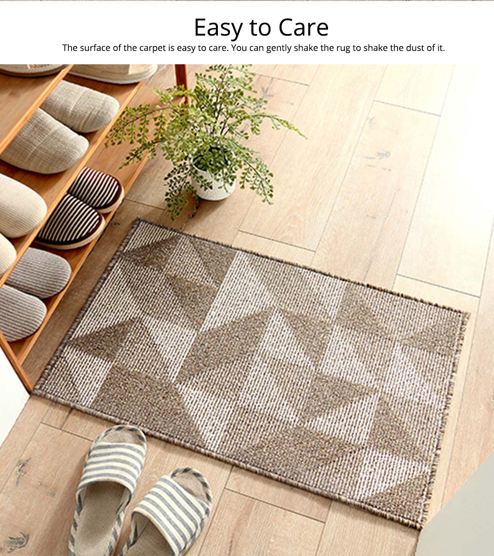 Double Layer Woven Carpet, Modern Style Non-slip Rugs for Living Room, Bedroom 1