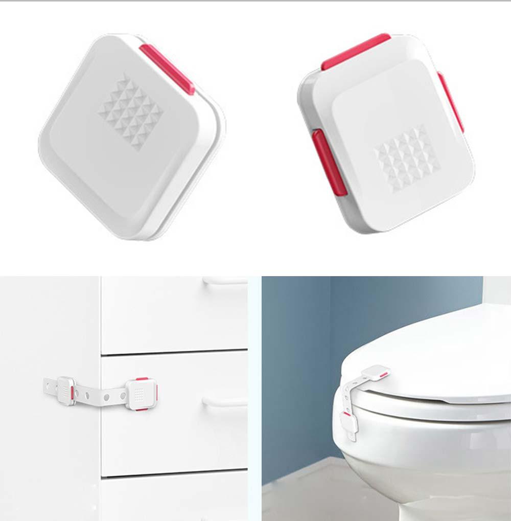 Adjustable Child Proof Cabinet Locks, Easy Installation, Apply For Refrigerator, Locker, Toilet Seat 12