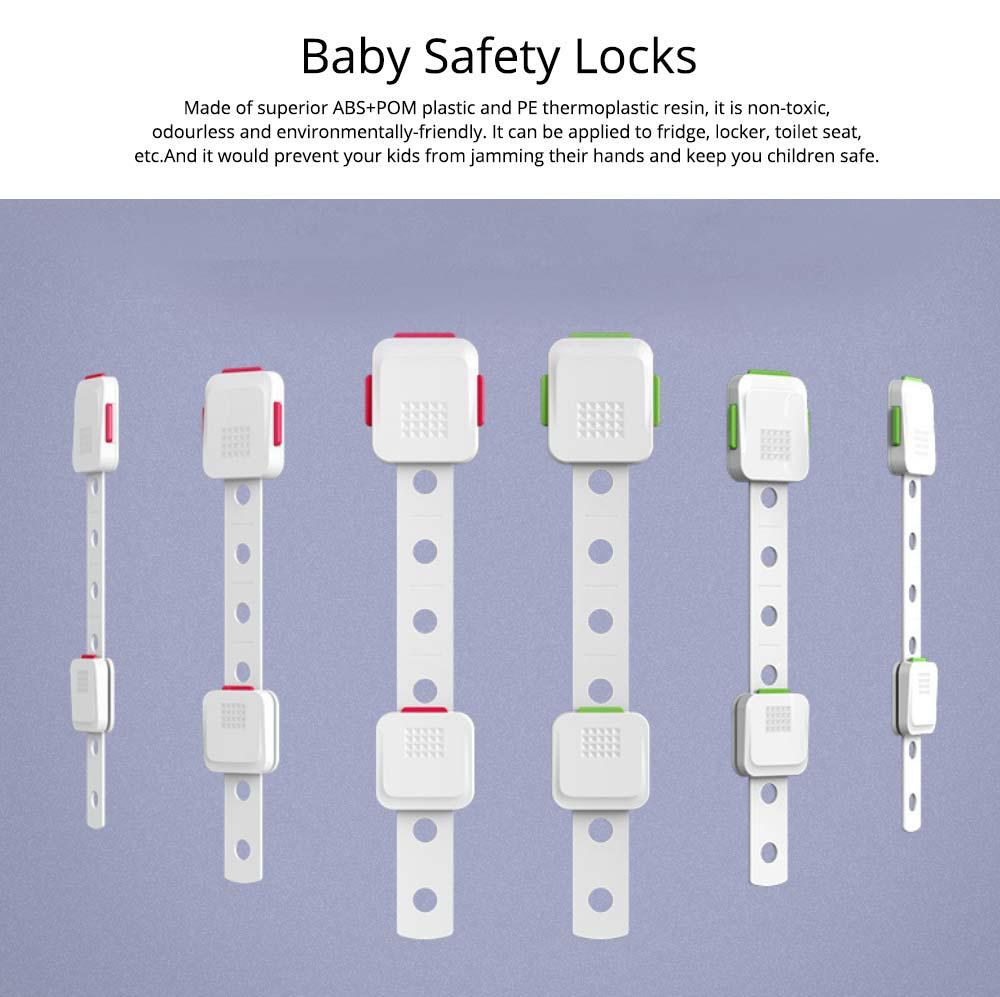 Adjustable Child Proof Cabinet Locks, Easy Installation, Apply For Refrigerator, Locker, Toilet Seat 7