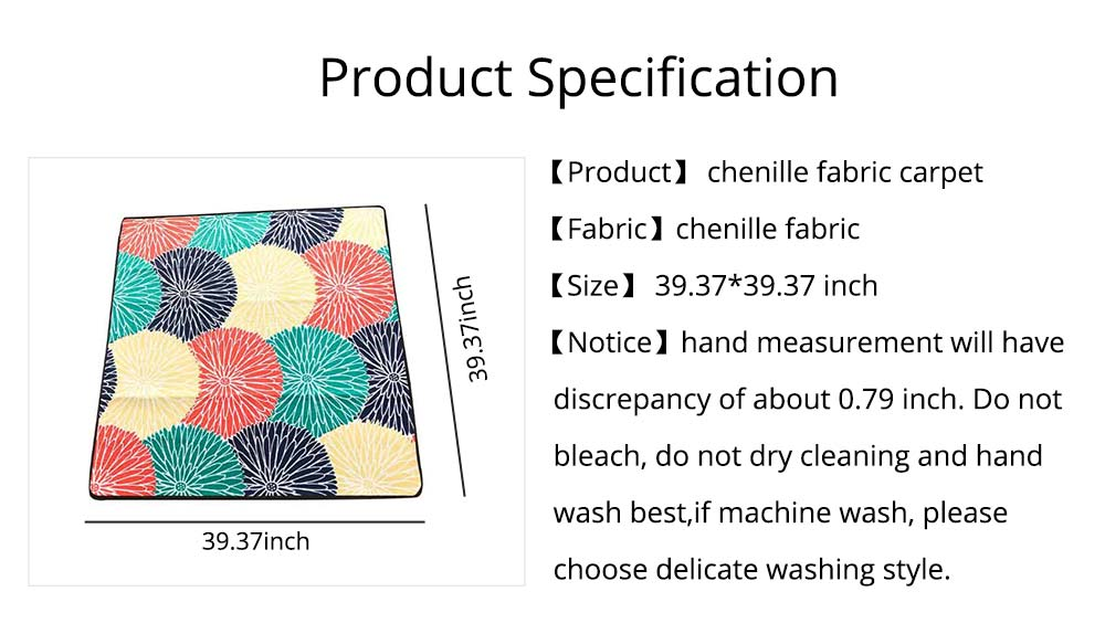 Chenille Fabric Carpet, Non-slip Baby Play Mat, Modern Design Floor Mat for Living Room, Bedroom 14