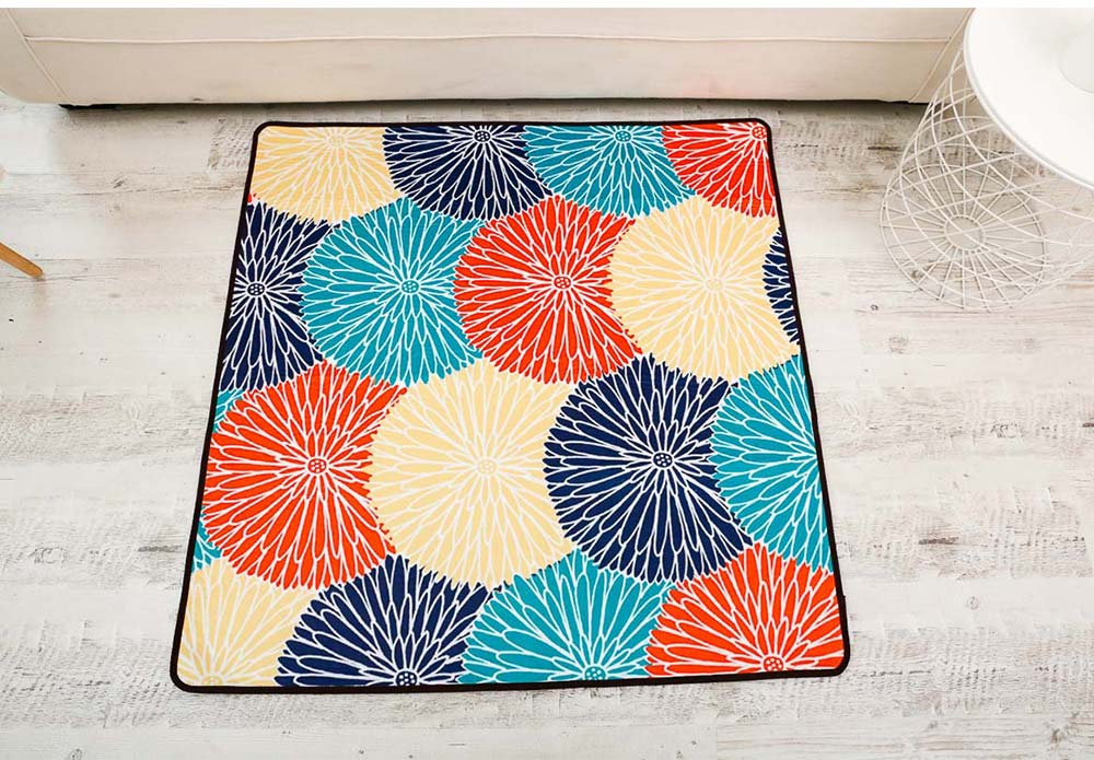 Chenille Fabric Carpet, Non-slip Baby Play Mat, Modern Design Floor Mat for Living Room, Bedroom 13