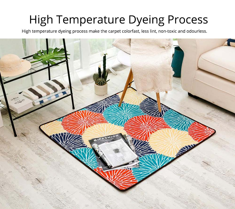 Chenille Fabric Carpet, Non-slip Baby Play Mat, Modern Design Floor Mat for Living Room, Bedroom 11