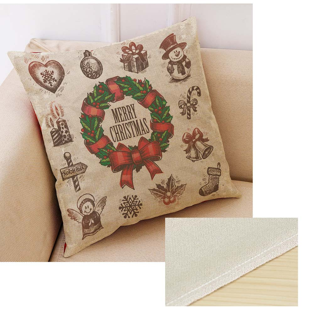 Flannelette Linen Polyester Pillow Case, ew Arrival Christmas Series Home Decoration Cushion Cover 3