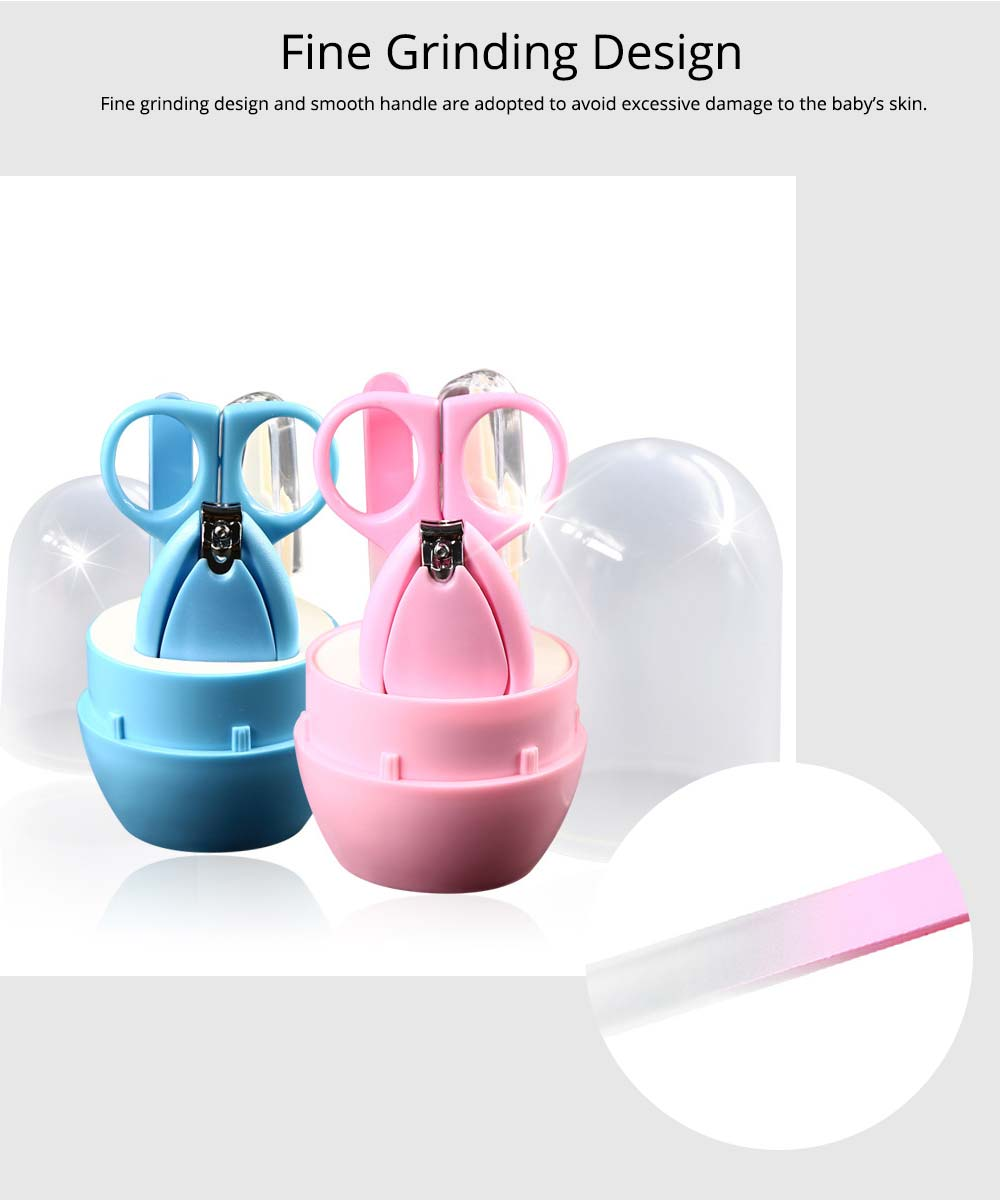 Nail Care Kit For Baby, 4 PCS Mini Baby Care Clippers Nail Kit, Manicure Pedicure Kit Trimmer Cutter 4