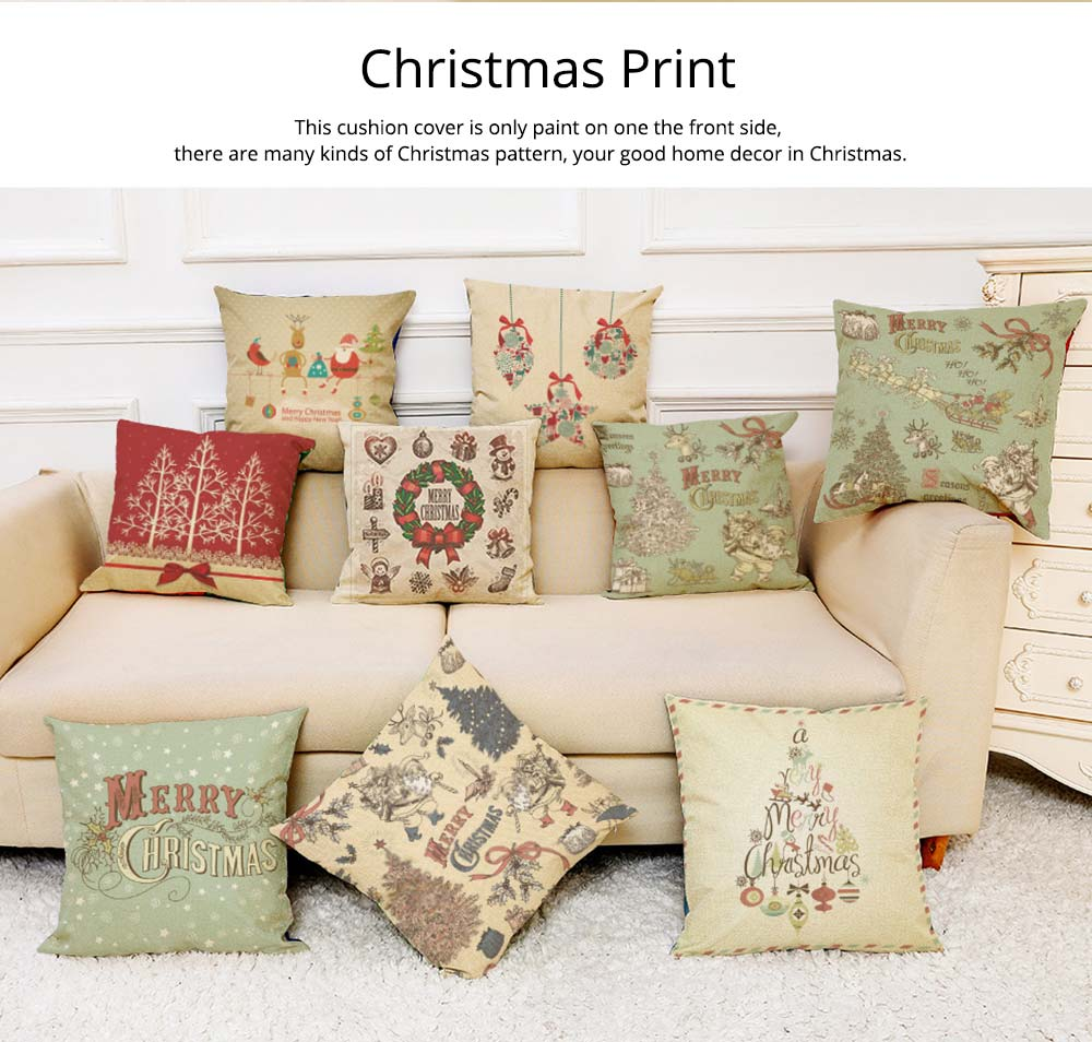 Flannelette Linen Polyester Pillow Case, ew Arrival Christmas Series Home Decoration Cushion Cover 6