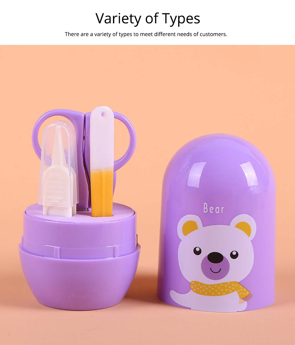 Baby Manicure Kit with Cartoon Packaging Box, 4 PCS Nail Care Kit For Baby, Infant Care Clippers Nail Kit 13