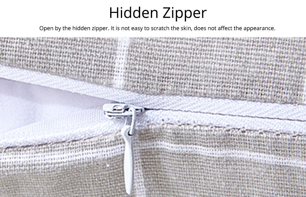 Colorful Plaids Pillow Case Core, Floral Linen Cushion Home Decoration 4