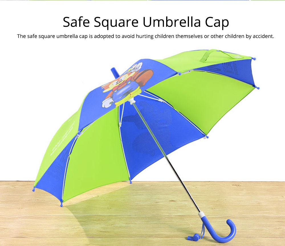 Cute Cartoon Painting Umbrella for Children, Long-handle Non-automatic Sun Rain waterproof Umbrella 2
