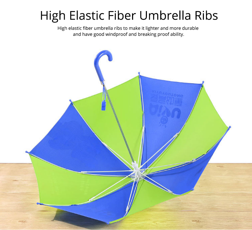 Cute Cartoon Painting Umbrella for Children, Long-handle Non-automatic Sun Rain waterproof Umbrella 4
