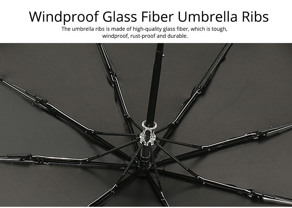 Triple Folding Umbrella in Sunny or Rainy Combination, Sun Protection UV Protection Umbrella with Vinyl Surface 1