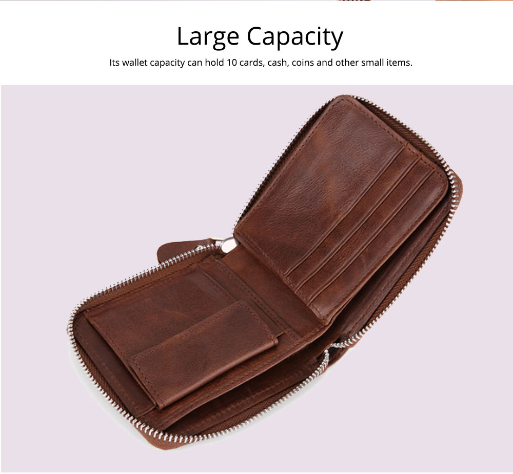 Women's Short Zipper Wallet, Korean Casual Anti-magnetic Clutch for Ladies, Fashion New Leather Coin Purse 3