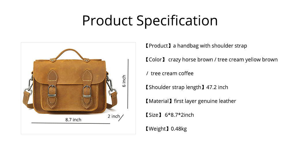 Fashion Casual Handbags, Ladies Crossbody shoulder Bag First Layer Leather, Top Layer Cowhide Handbags 7