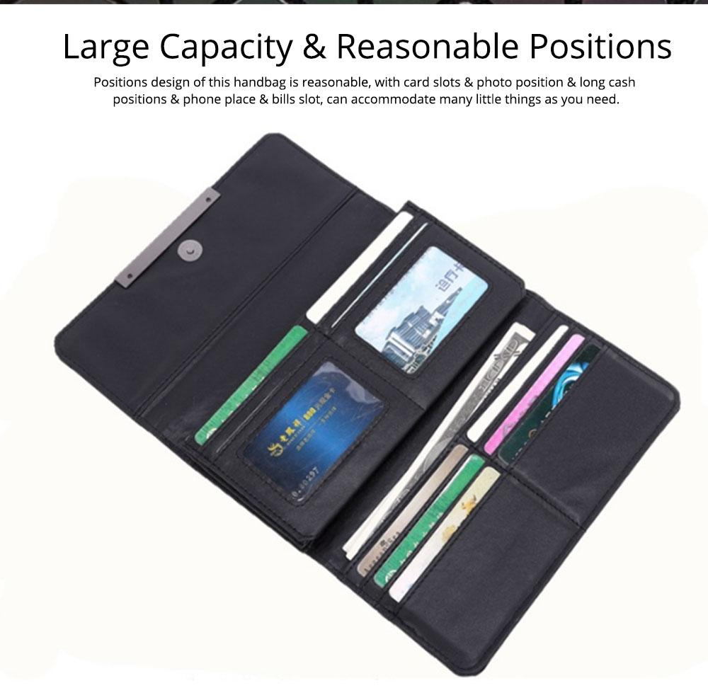 Triangle Long Wallet, Unique Luminous Geometric Embossing Lady Clutch Bag, PU Leather Lady Handbag Card Holder Phone Purse 4