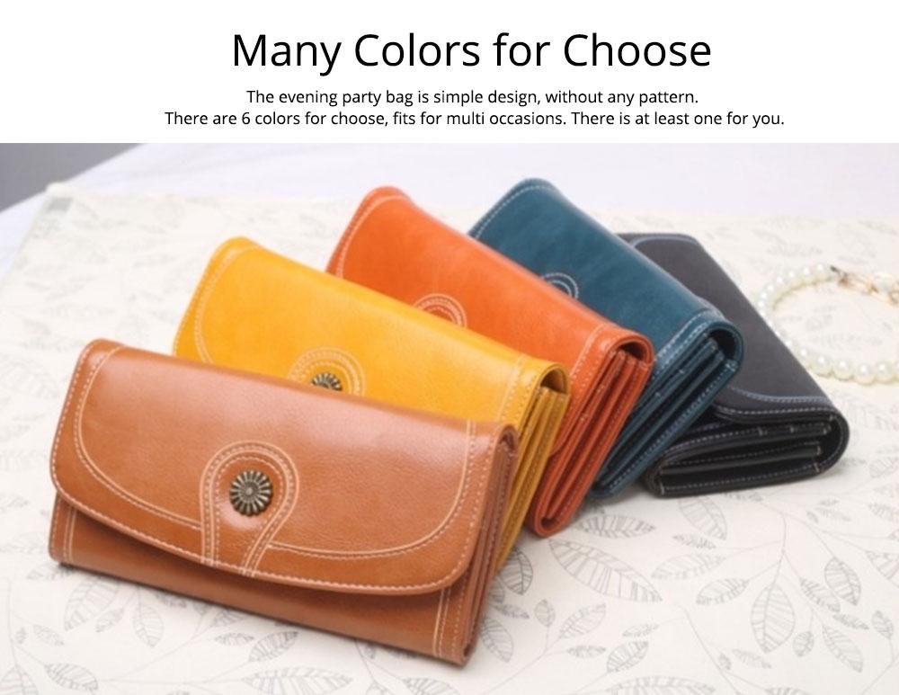Sunflower Lady Handbag, Flip-type Wallet Card Holder Mini Purse, Metal Overedging Long Clutch Evening Party Bag 7