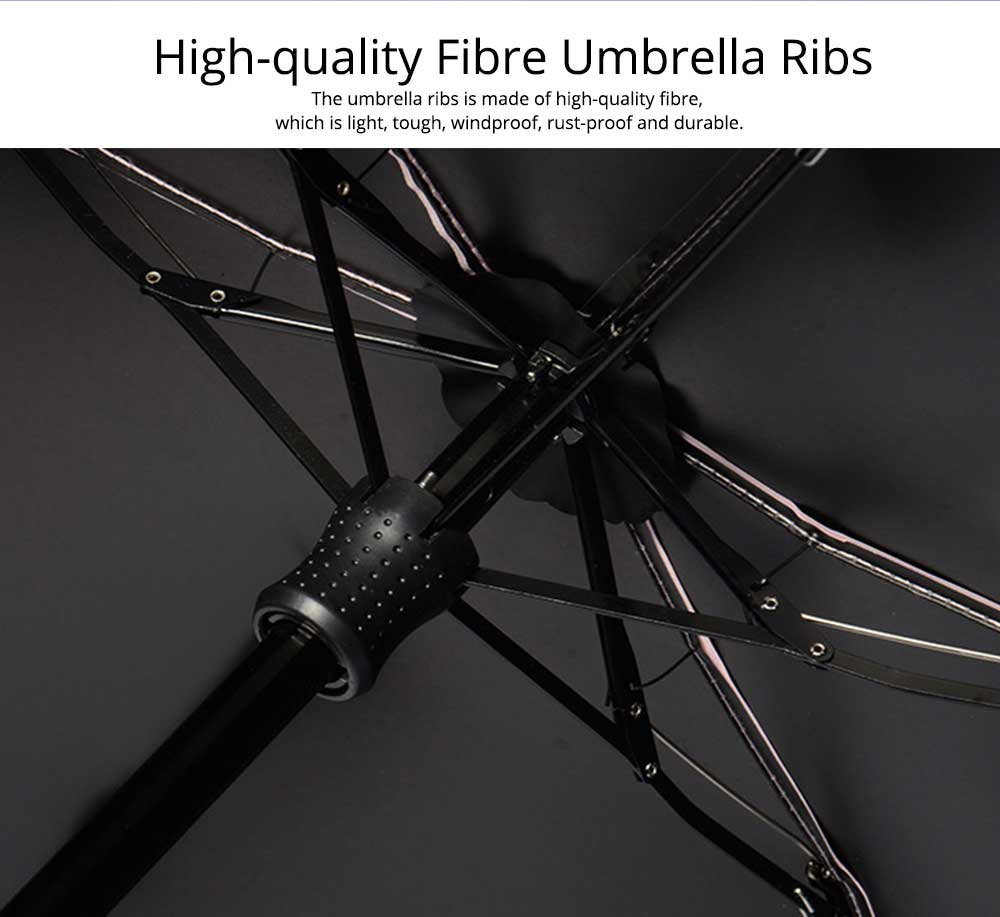 Triple or Five Folding Umbrella With Creative Hot Stamping Butterfly, Portable Folding Compact Umbrella for Sunny Rainy Days 7