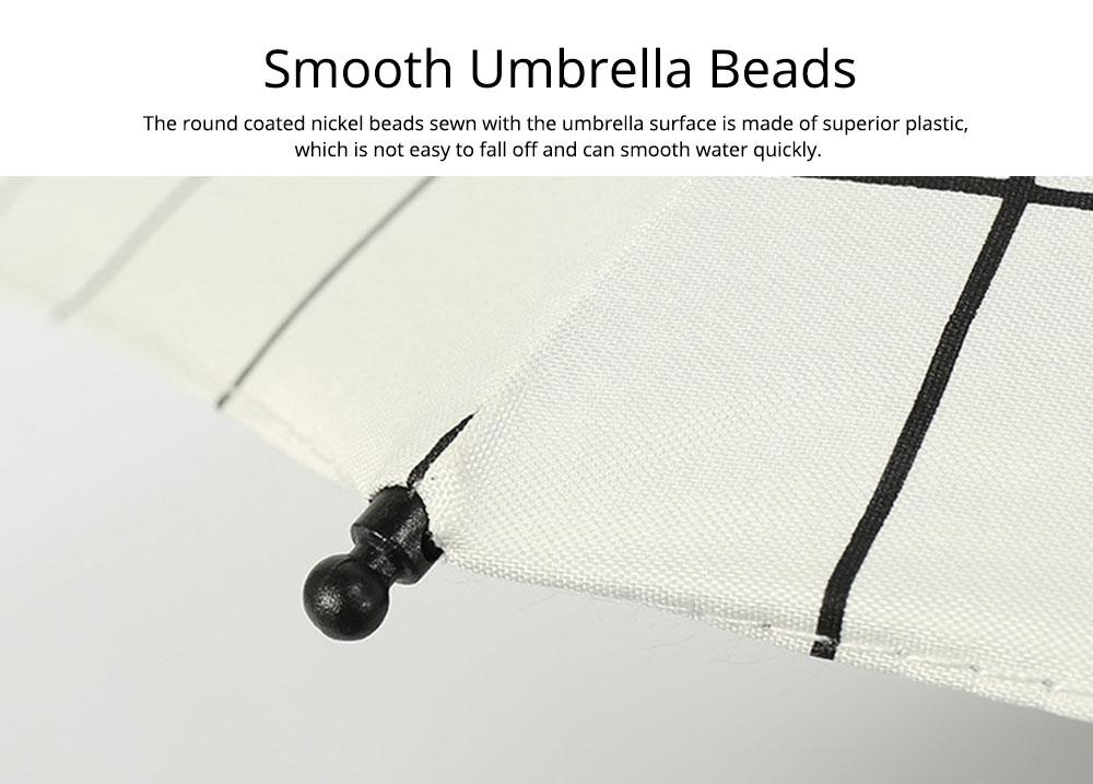 Triple Folding Umbrella in Sunny or Rainy Combination, Sun Protection UV Protection Umbrella with Vinyl Surface 2