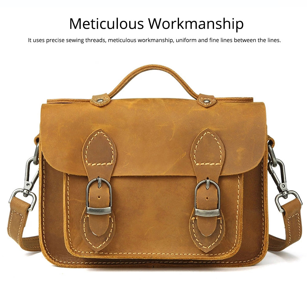 Fashion Casual Handbags, Ladies Crossbody shoulder Bag First Layer Leather, Top Layer Cowhide Handbags 5