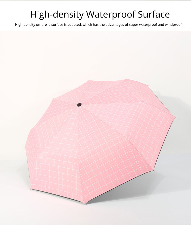 Triple Folding Umbrella in Sunny or Rainy Combination, Sun Protection UV Protection Umbrella with Vinyl Surface 12
