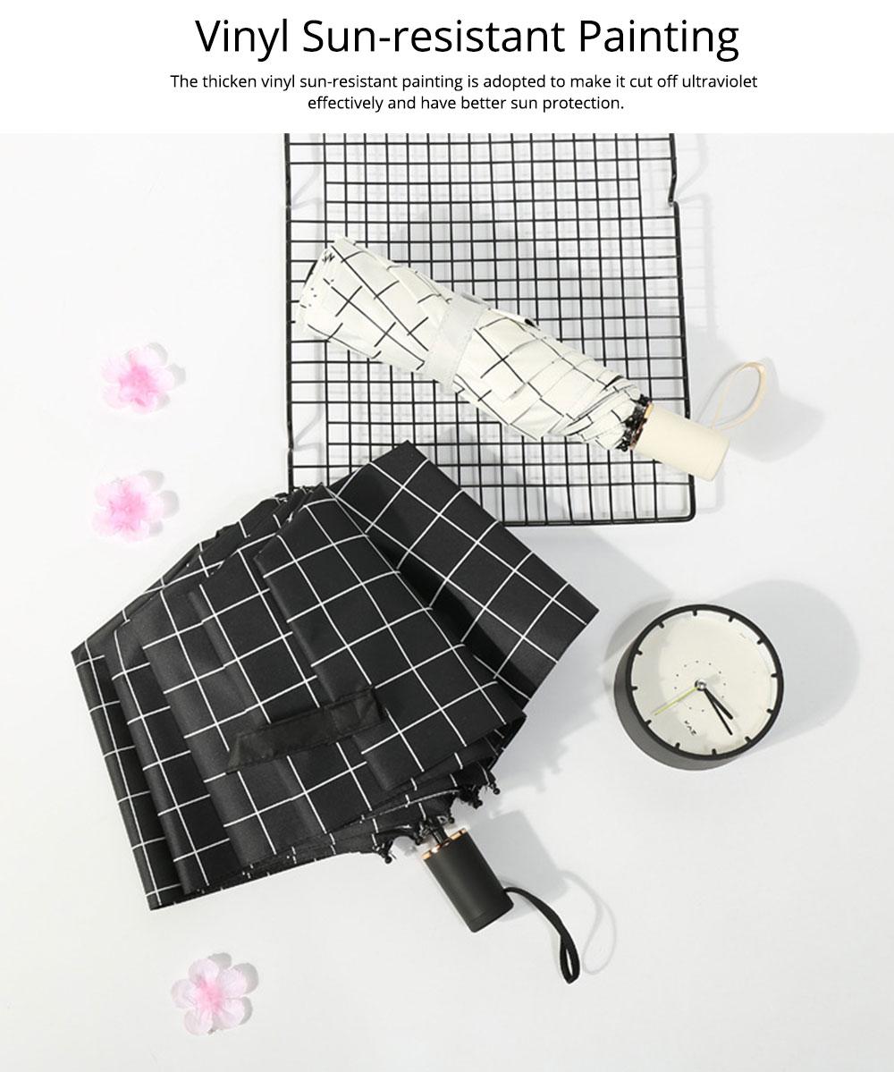 Triple Folding Umbrella in Sunny or Rainy Combination, Sun Protection UV Protection Umbrella with Vinyl Surface 4
