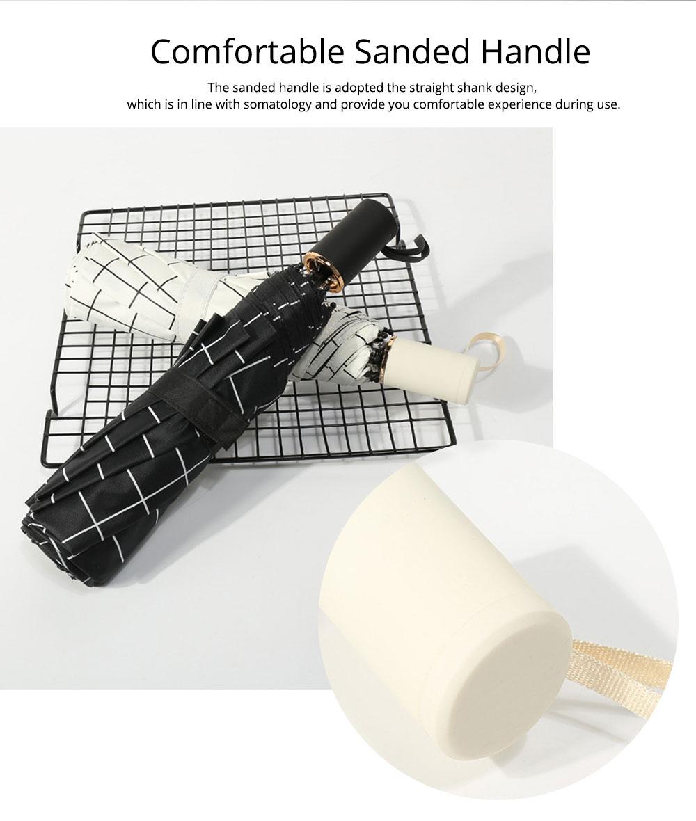 Triple Folding Umbrella in Sunny or Rainy Combination, Sun Protection UV Protection Umbrella with Vinyl Surface 10