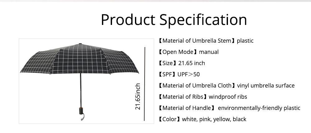 Triple Folding Umbrella in Sunny or Rainy Combination, Sun Protection UV Protection Umbrella with Vinyl Surface 6