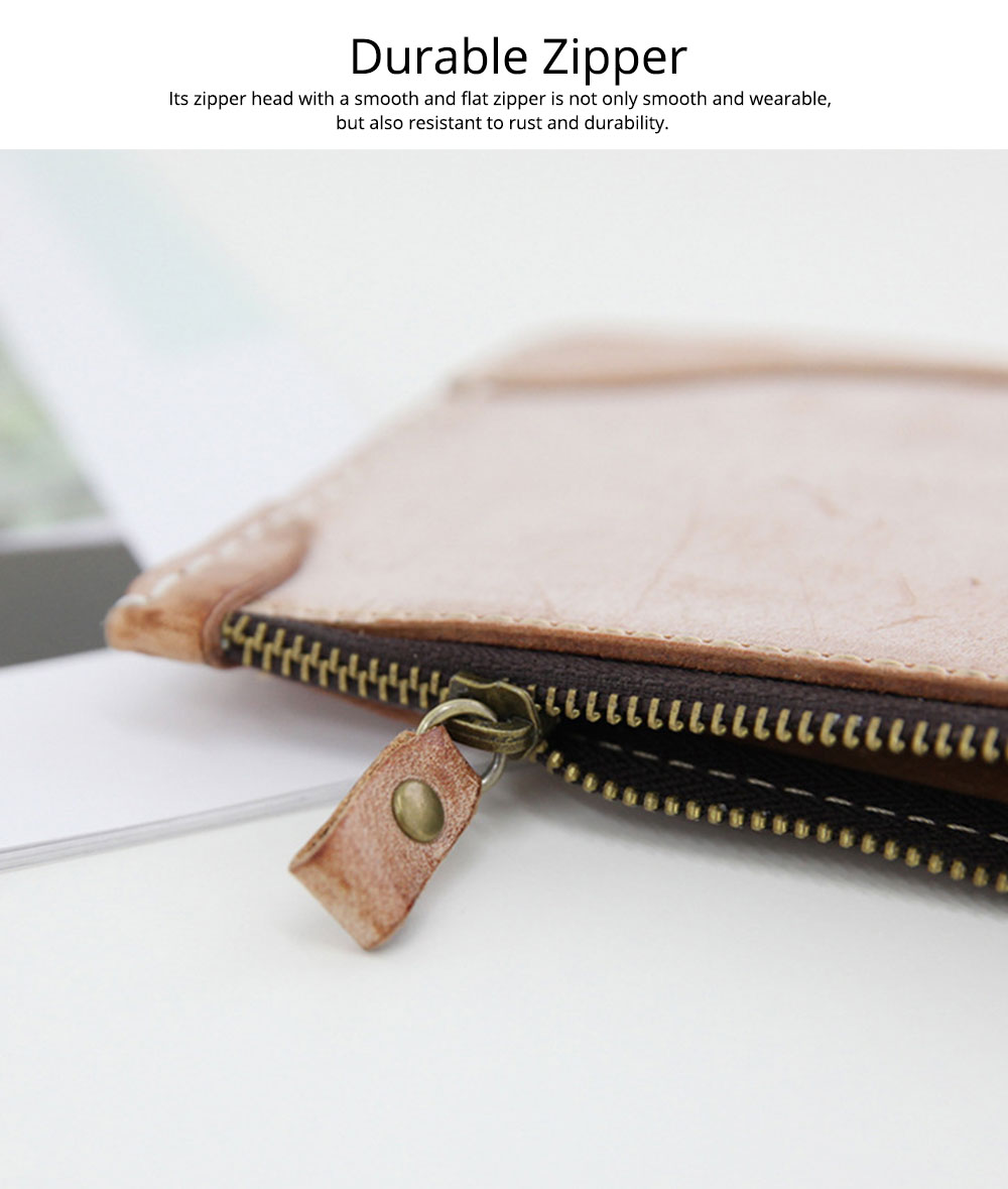 2019 New Long Purse, Vintage Handmade Vegetable Tanned Ladies Clutch, Real Leather Fog Wax Clutch 8