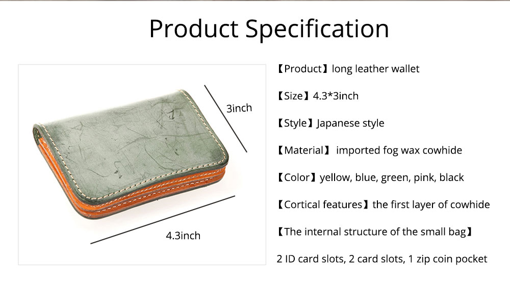 2019 New Vegetable Tanned Leather Card Bag, Japanese Style Female Coin Purse, Handmade Leather Card Holder 15