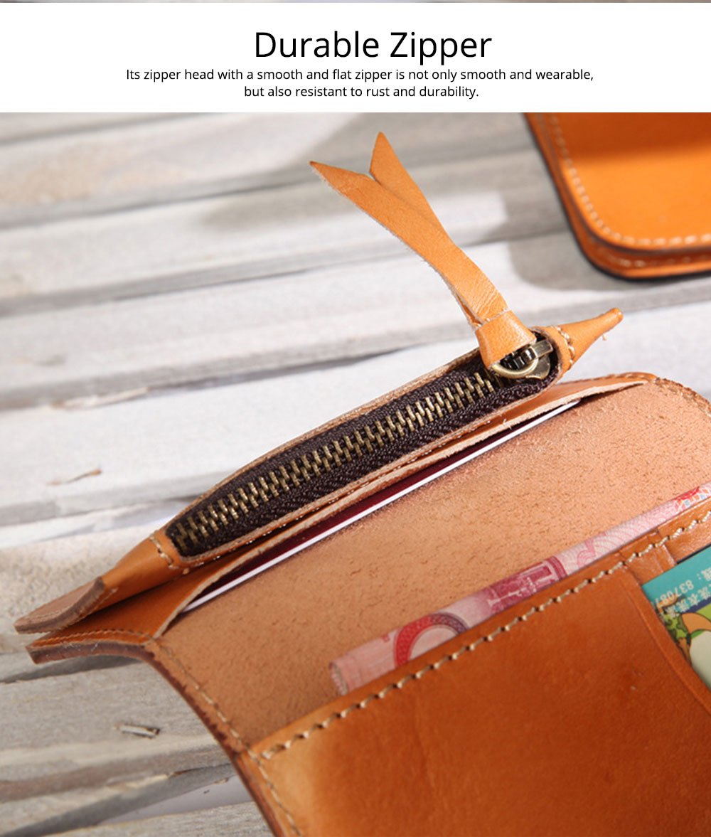 2019 New Vegetable Tanned Leather Card Bag, Japanese Style Female Coin Purse, Handmade Leather Card Holder 8
