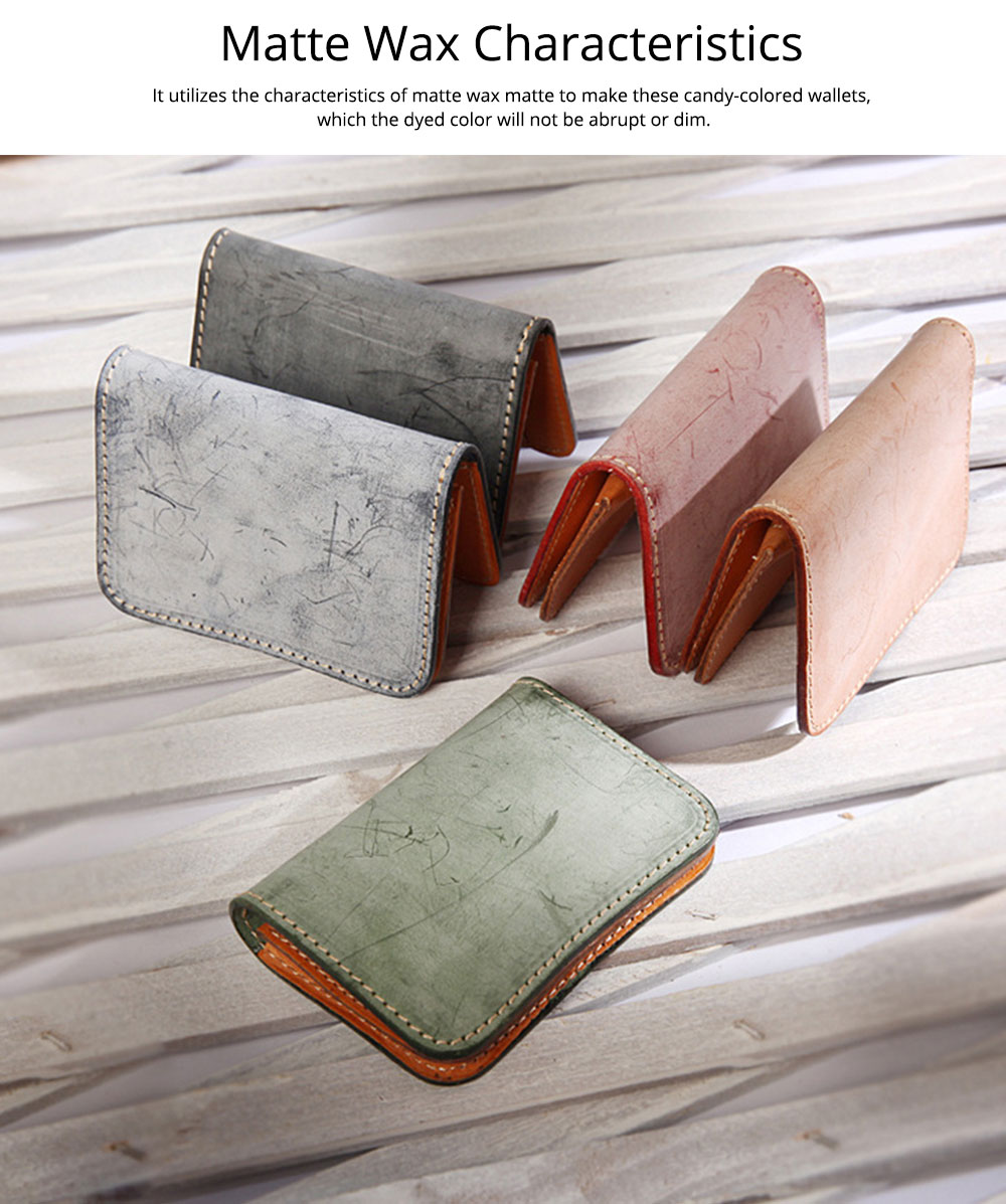 2019 New Vegetable Tanned Leather Card Bag, Japanese Style Female Coin Purse, Handmade Leather Card Holder 10