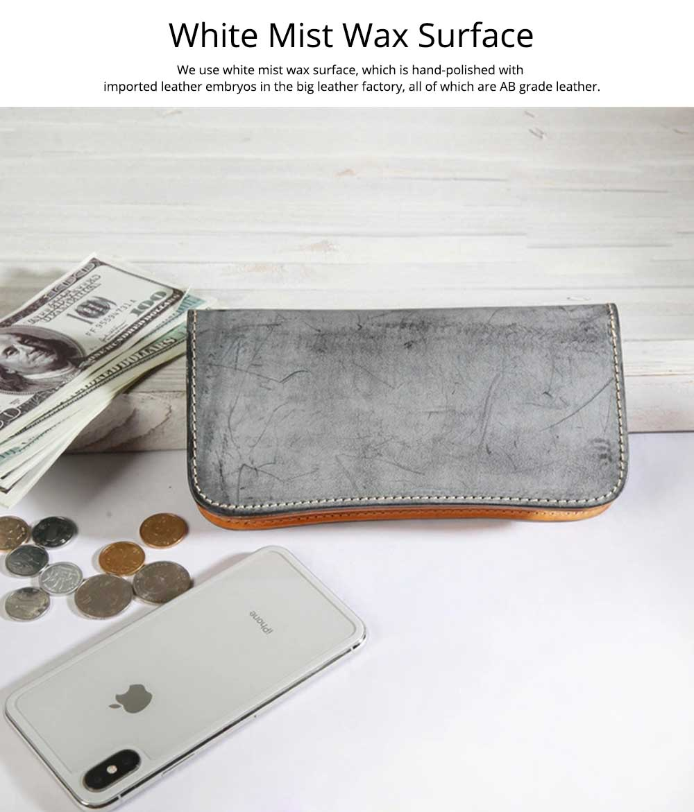 New Long Leather Clutch, Fashion Vegetable Tanned Purse for Ladies, Handmade Suede Leather Purse 2