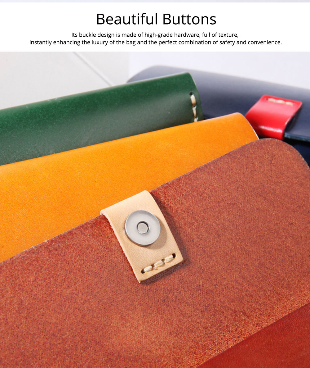 Handmade Leather Japanese Glasses Bag, Vegetable Tanned Leather Glasses Case, Hit Color 4