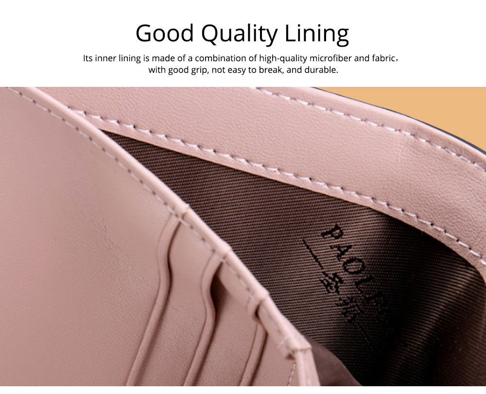 Women's Long Clutch for Shopping Dating Party, Korean Large Capacity Female Purse, Vegetable Tanned Cowhide Clutch  3