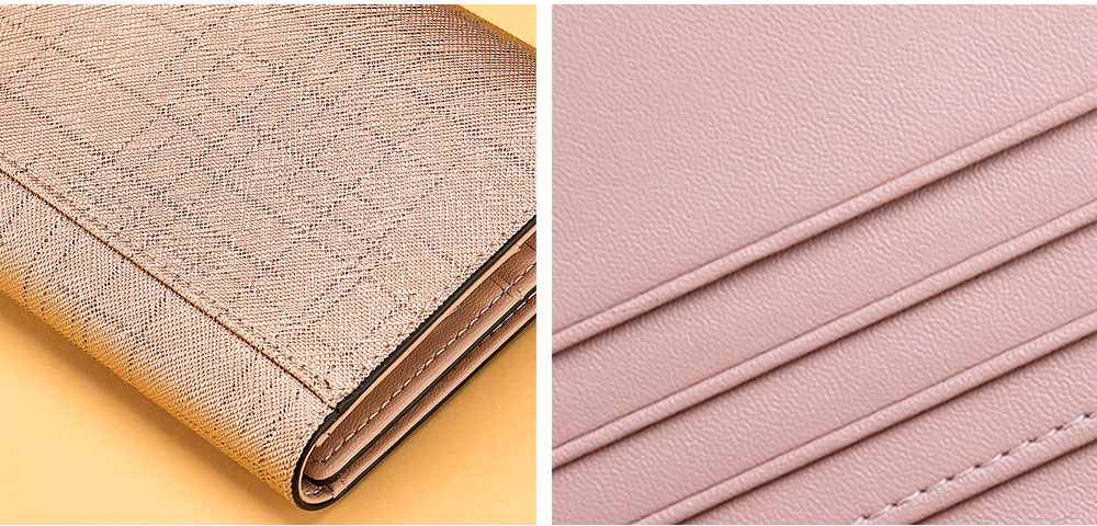 Women's Long Clutch for Shopping Dating Party, Korean Large Capacity Female Purse, Vegetable Tanned Cowhide Clutch  6