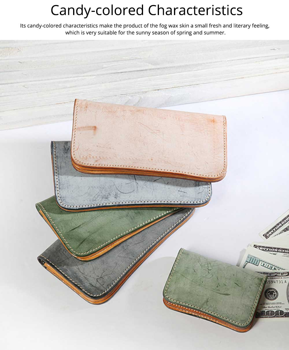 New Long Leather Clutch, Fashion Vegetable Tanned Purse for Ladies, Handmade Suede Leather Purse 6