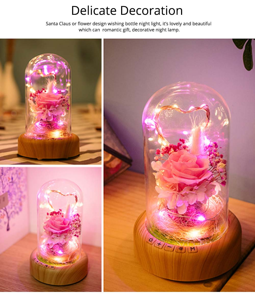 Enchanted LED Rose in Glass Dome Bluetooth Stereo Rotating Music Box for Wife Lover Girlfriend Wedding Anniversary Birthday Present 4