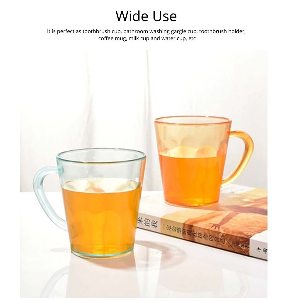 Juice Cups with C-shape Handle, Transparent Exquisite Glass Plastic Cups for Coffee, Juice, Liquor, Beverages 5