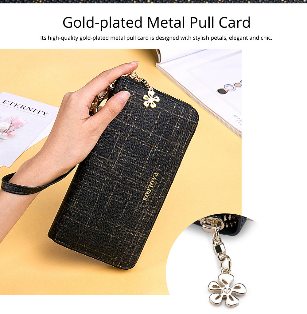 Two-layer Cowhide Leather Clutch, Multifunctional Large Capacity Clutch for Women, 2019 New Long Zipper Purse 9