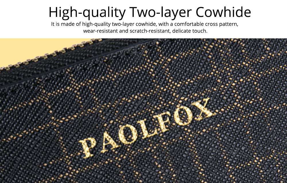Two-layer Cowhide Leather Clutch, Multifunctional Large Capacity Clutch for Women, 2019 New Long Zipper Purse 8