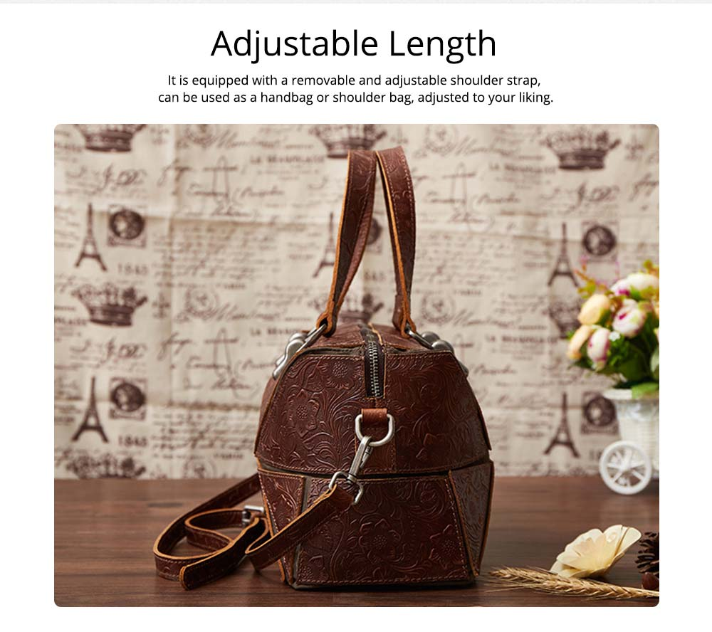Vintage Hand Embossed Handbag, Autumn Winter Shoulder Bag, Ladies First Layer Leather Crossbody Bag 2019 3