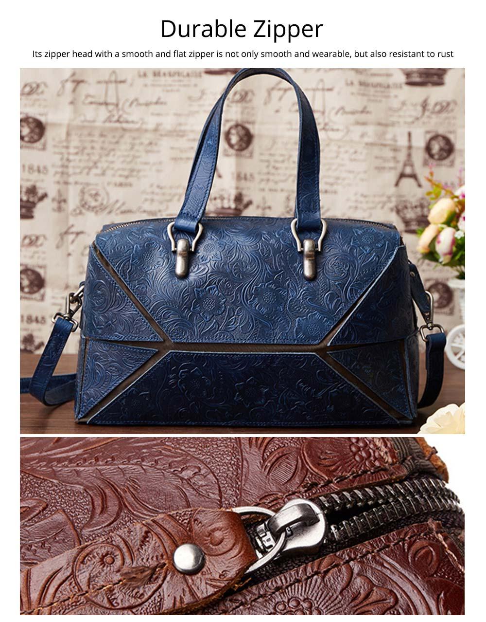Vintage Hand Embossed Handbag, Autumn Winter Shoulder Bag, Ladies First Layer Leather Crossbody Bag 2019 4