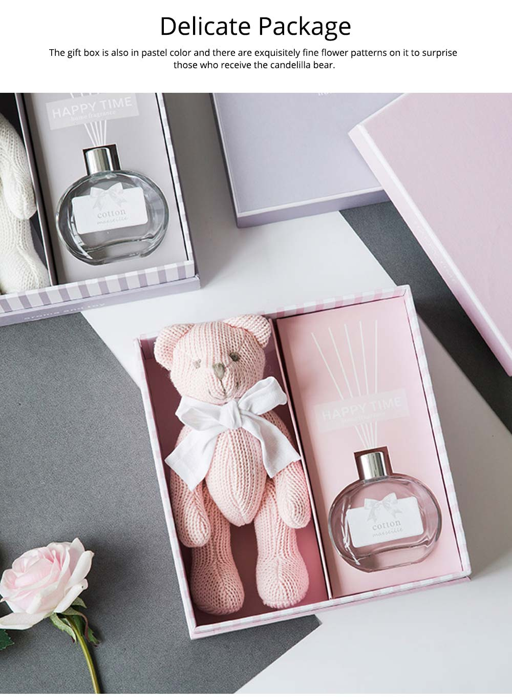 Creative Fragrance Gift Box for Weddings Confidant Valentine's Day Birthday, Fragrant Muppet Candelilla Bear Present 5