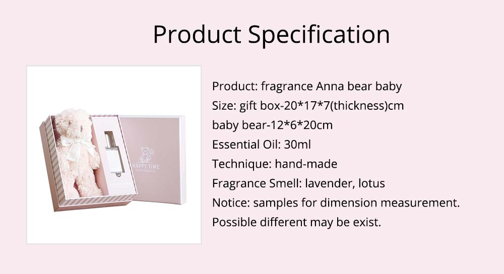 Romantic Gift Fragrance Anna Bear Baby for Girlfriend Confidant, Creative Gift Box for Birthday 12