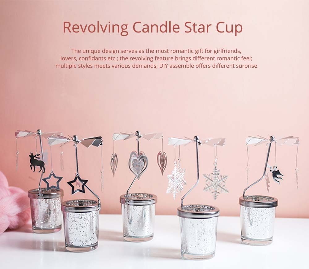 Romantic Birthday Gifts For Her, Lovely Revolving Candle Star Cup for Girlfriend, Lovers, Confidant 7