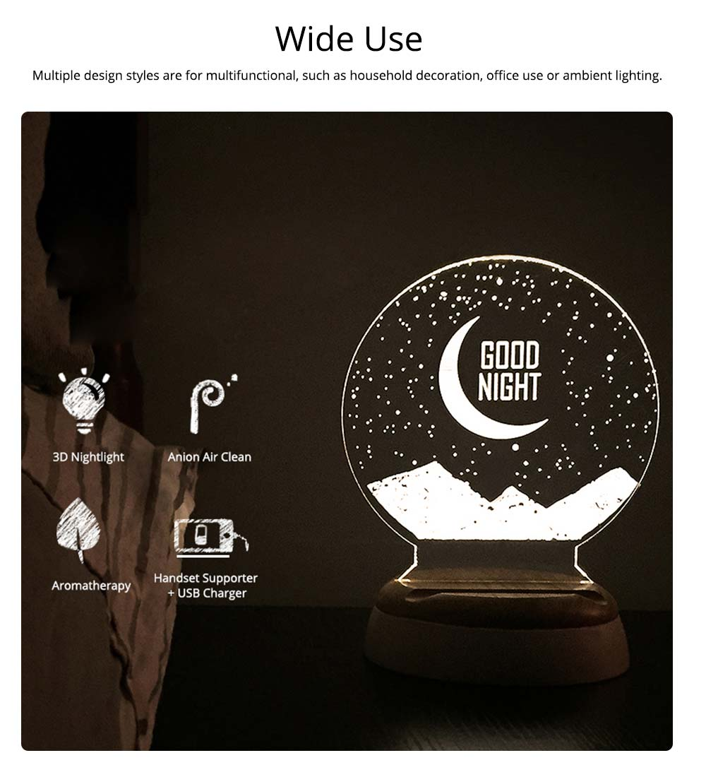 Girlish Birthday Present, 3D Night Light for Girls Confidant on Christmas Day, Creative Lettering Customized Night Light for Girlfriends 7