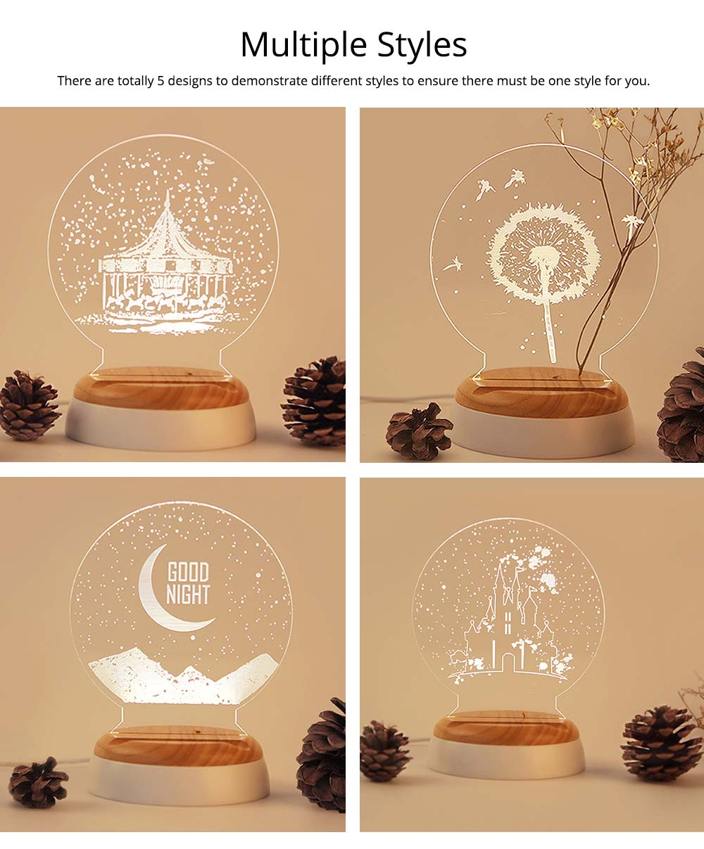 Girlish Birthday Present, 3D Night Light for Girls Confidant on Christmas Day, Creative Lettering Customized Night Light for Girlfriends 9