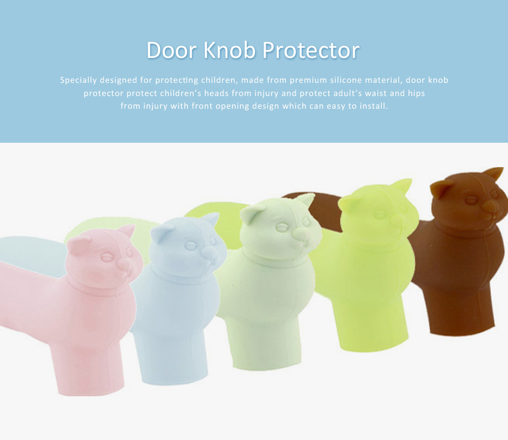 Silicone Door Handle Covers, Door Handle for L-handle, Anti-collision Protective Cover for Children Safety 7