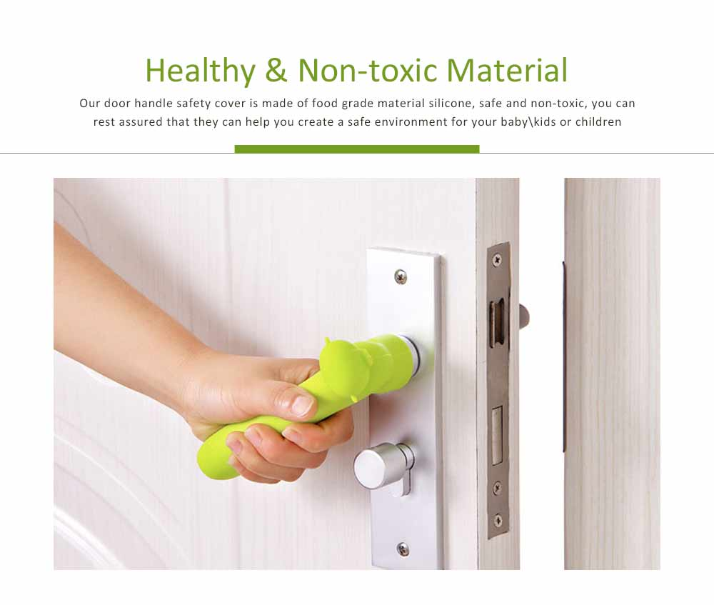 Door Knob Protector, Silicone Door Handle with Pig Man Design, Anti-collision Protective Cover for Children's Safety 1